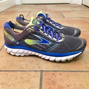 Mens Brooks Ghost 9 Running Shoes Gray Size 9